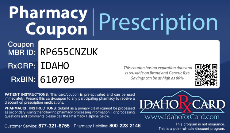 Idaho Rx Card - Free Prescription Drug Coupon Card
